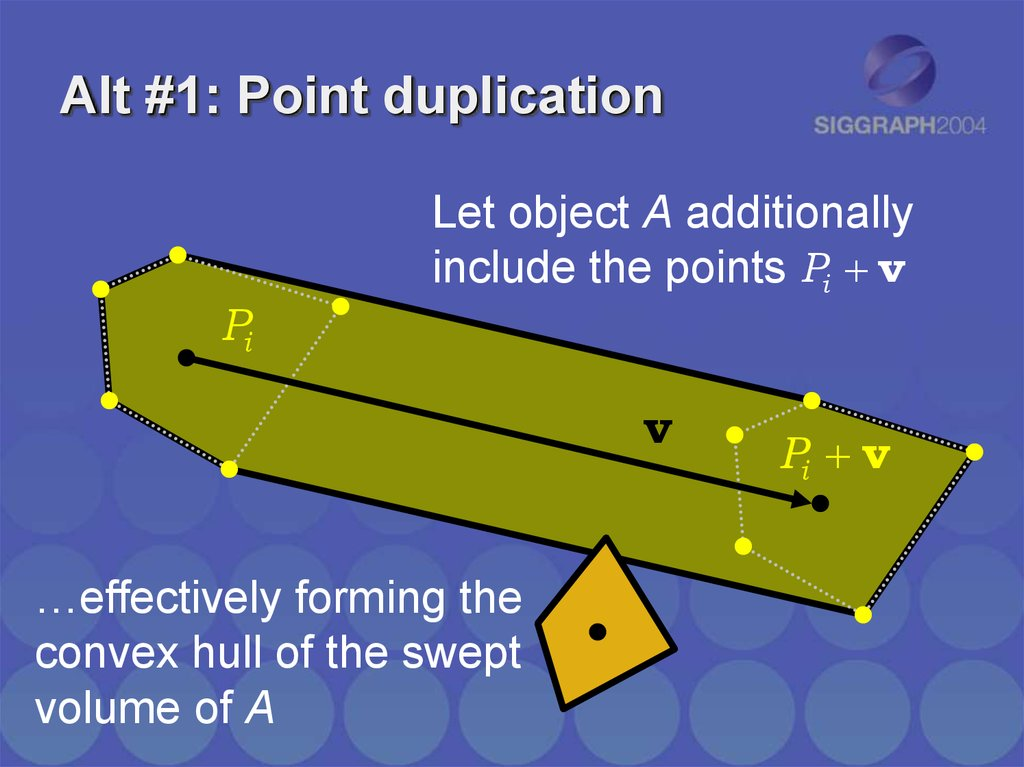 Alt #1: Point duplication