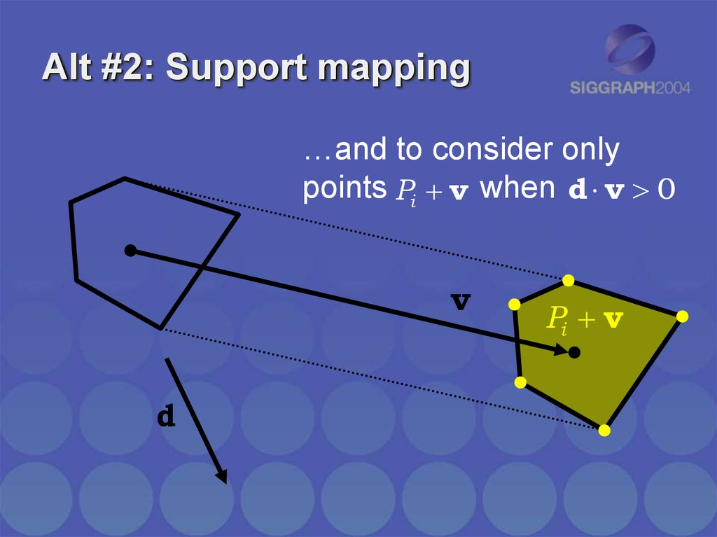 Alt #2: Support mapping
