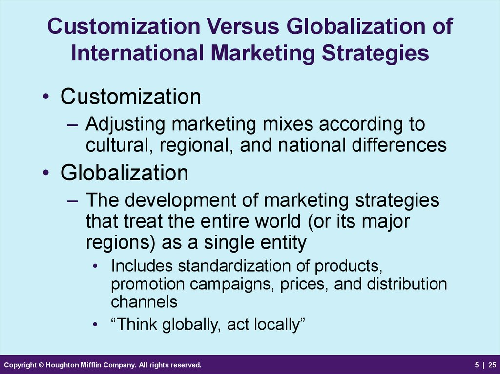 impact of globalisation on marketing strategies Understand the impact of globalisation chapter 9 globalisation, challenges and changes 309 transferable marketing between different countries.