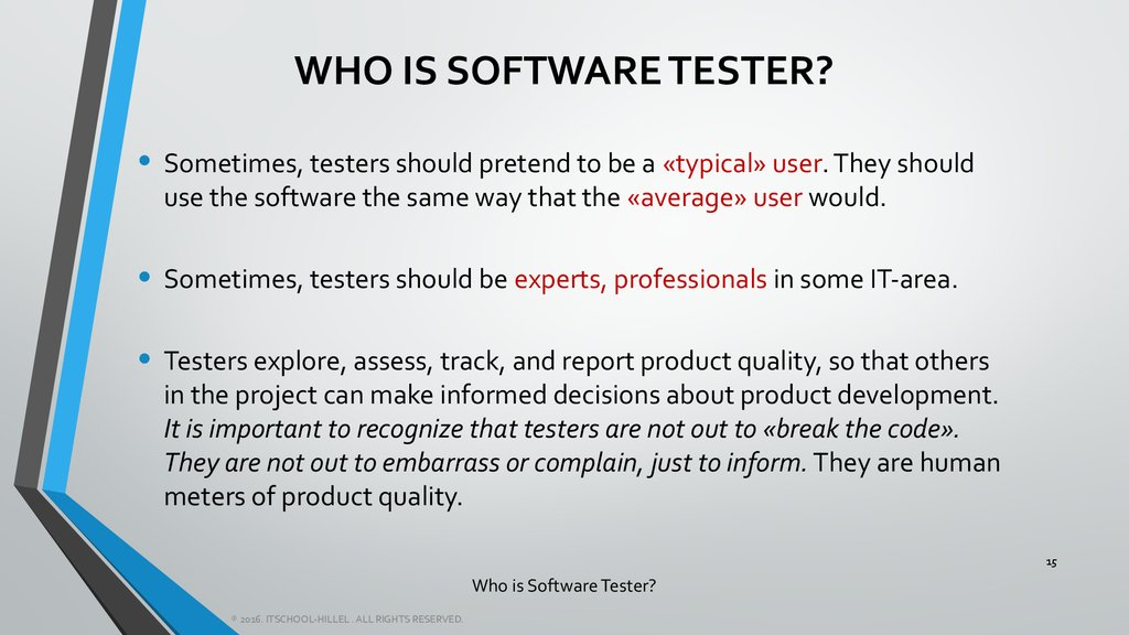 Who is Software Tester?