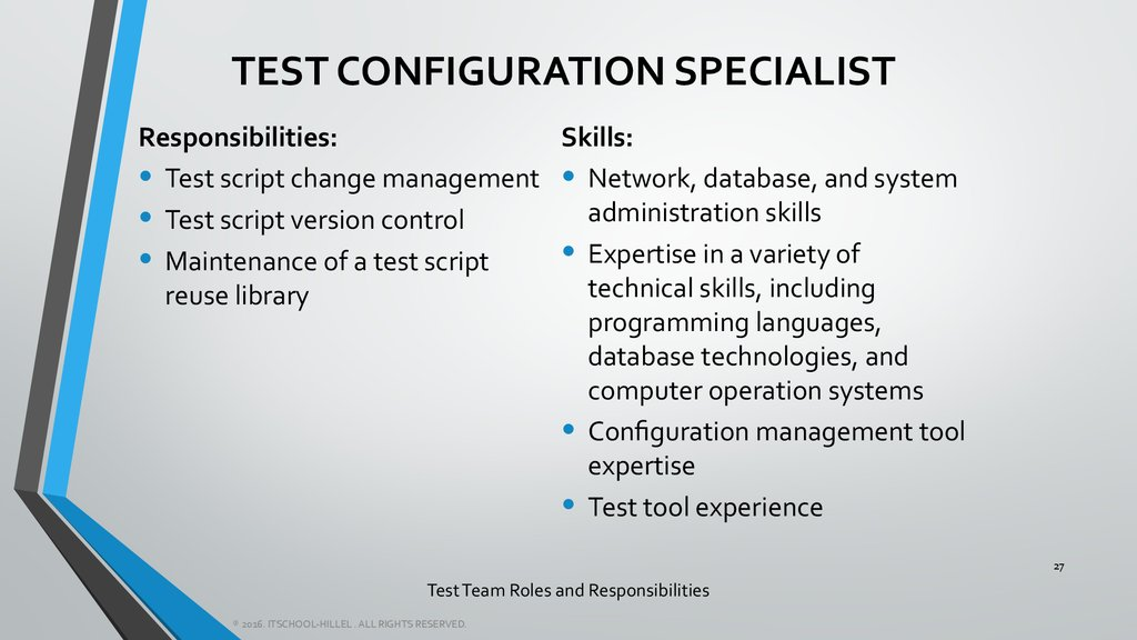 Test Team Roles and Responsibilities