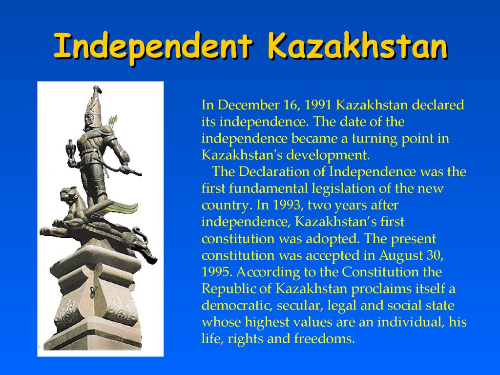 Independent Kazakhstan