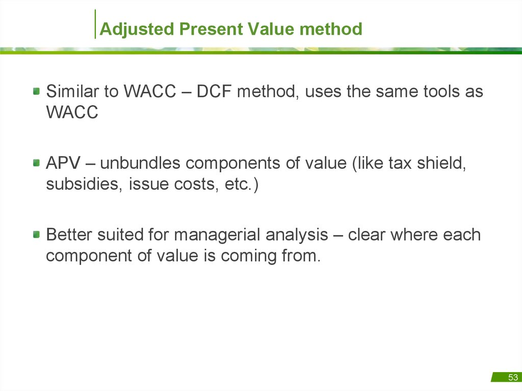 valuation apv vs wacc Valuation: lecture note packet 1 intrinsic valuation aswath damodaran updated: september 2016 aswath damodaran 1.