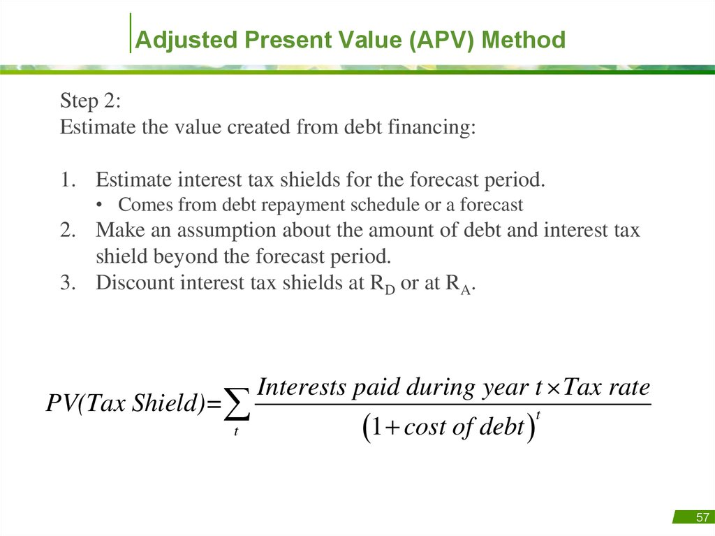 finance and debt tax shields Which of the following is correct i tax shields make debt financing more attractive, all else equal ii a firm's debt ratio falls when it uses excess cash to pay dividends.