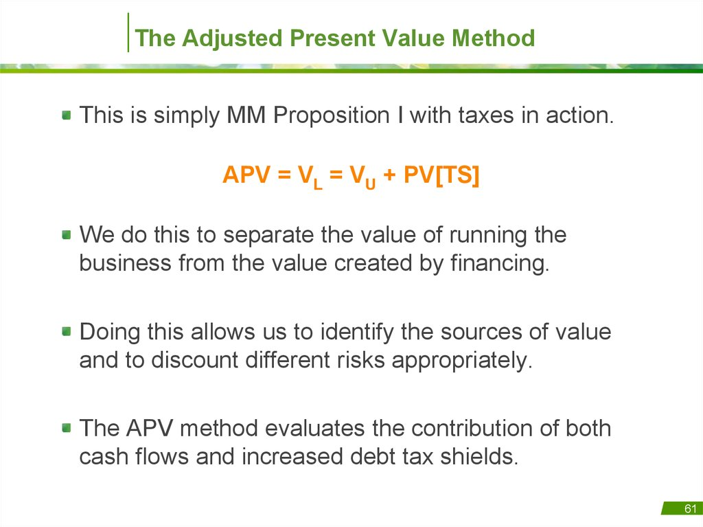 finance and present value View test prep - finance exam 3 from fin 327 at christian brothers university the net present value is best defined as the difference between an investment's: market.