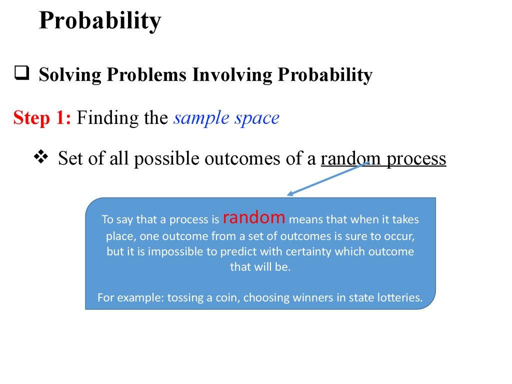 Discrete mathematics. Probability - online presentation