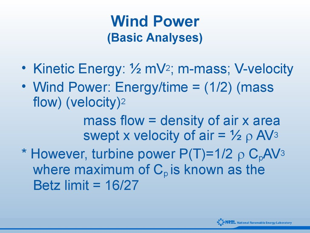 Wind Power (Basic Analyses)