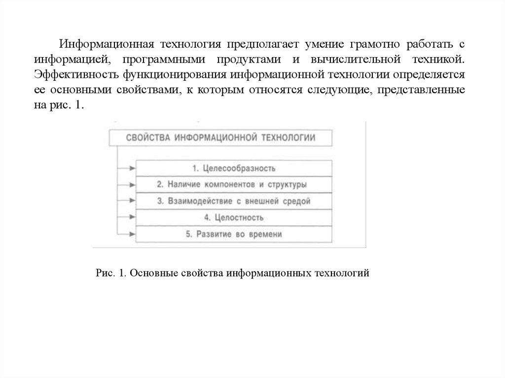 Понятие информации и информационных технологии реферат