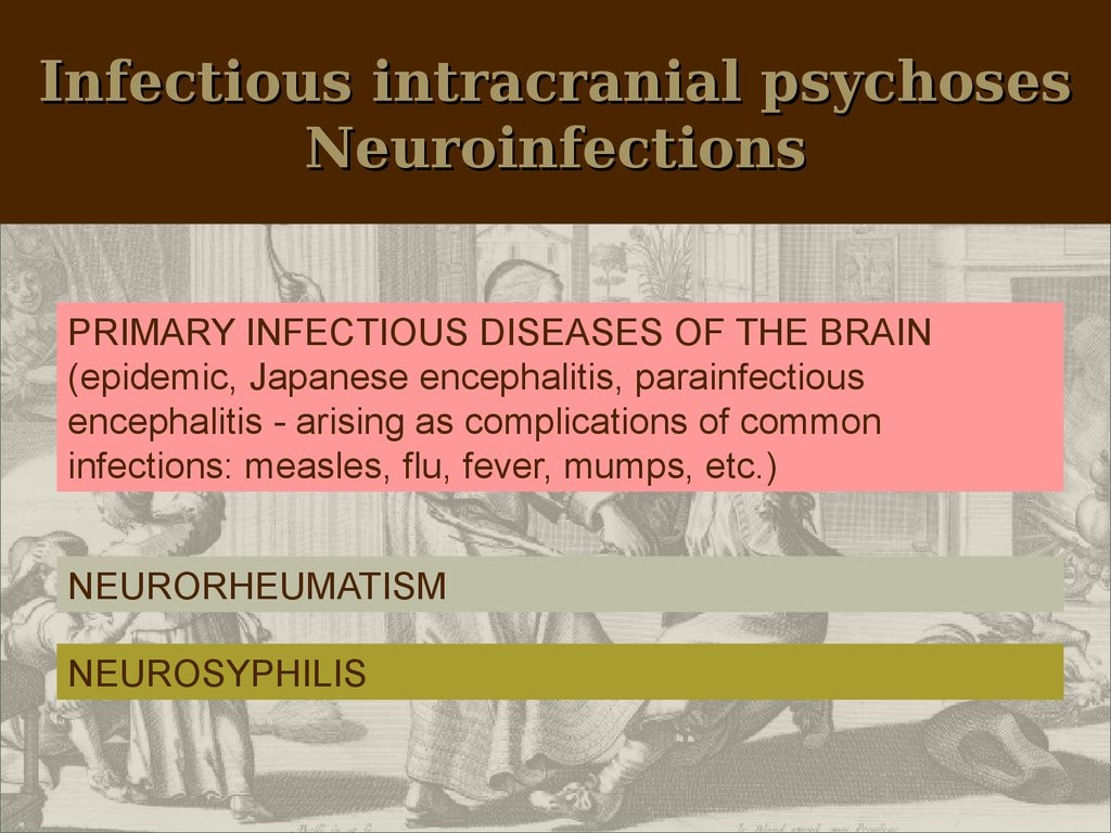 Infectious intracranial psychoses Neuroinfections
