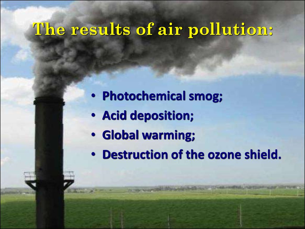The results of air pollution: