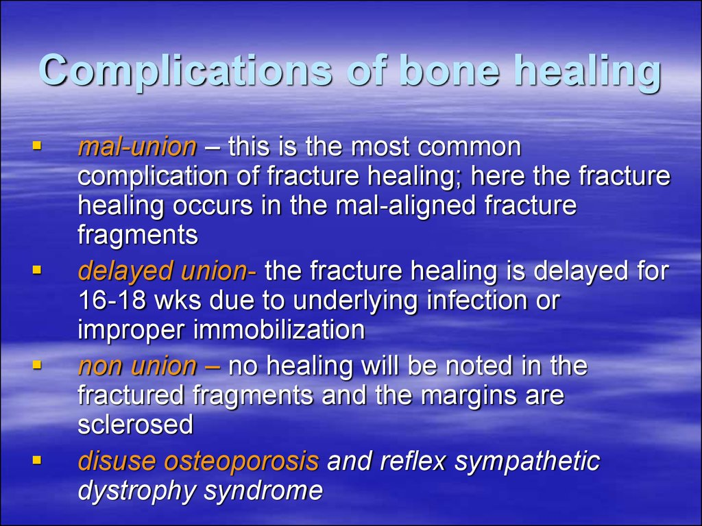 Complications of bone healing
