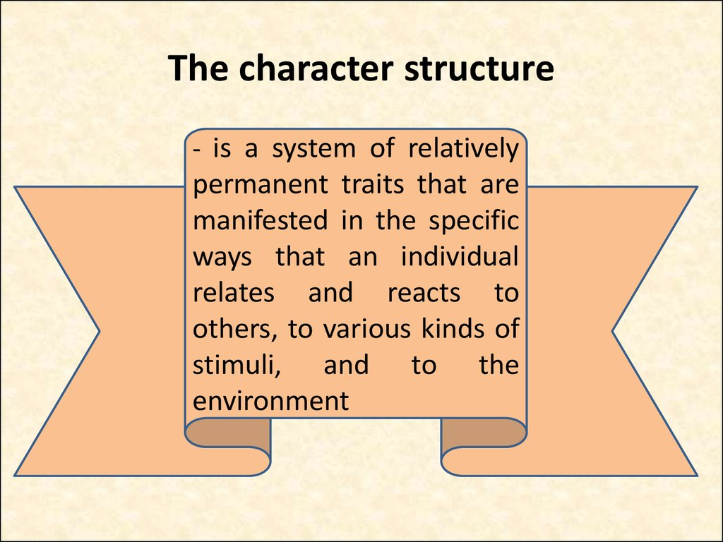 The character structure
