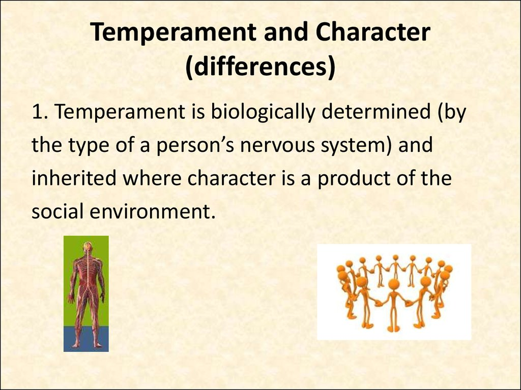 Temperament and Character (differences)