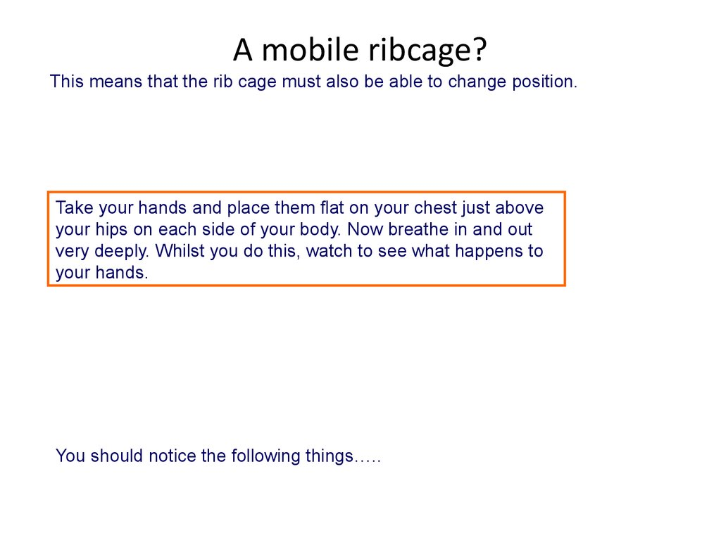 A mobile ribcage?