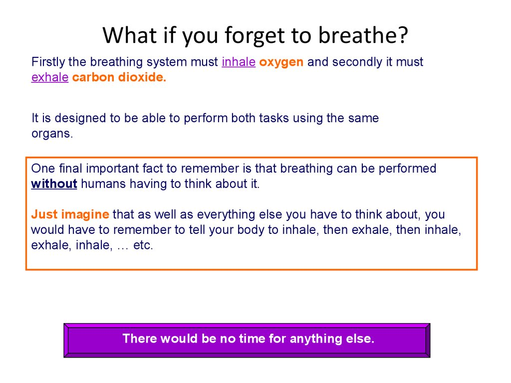 What if you forget to breathe?