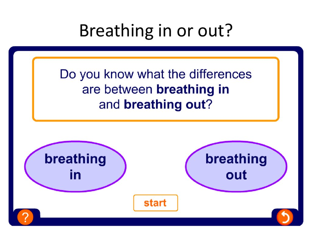 Breathing in or out?
