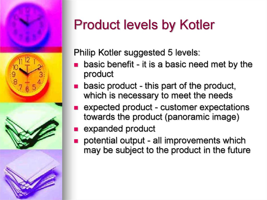 Product levels by Kotler