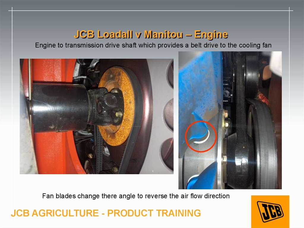 JCB Loadall v Manitou – Engine