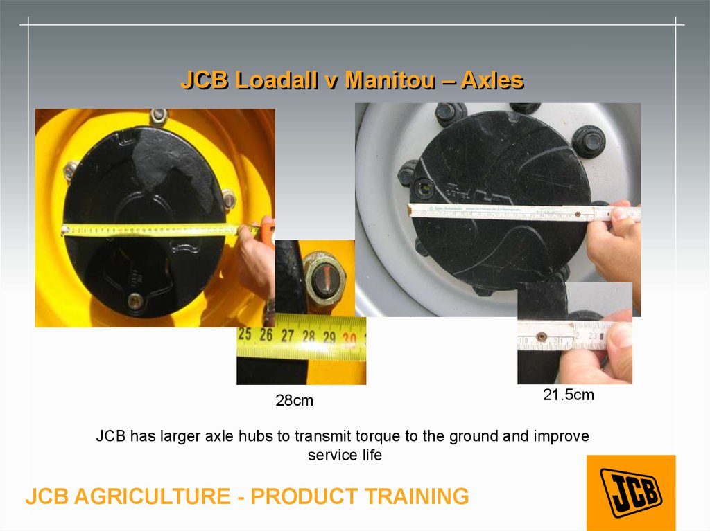 JCB Loadall v Manitou – Axles