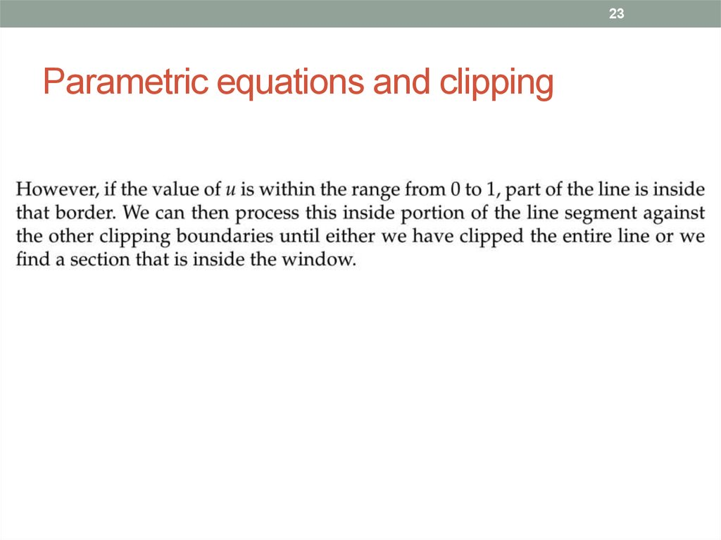 Parametric equations and clipping