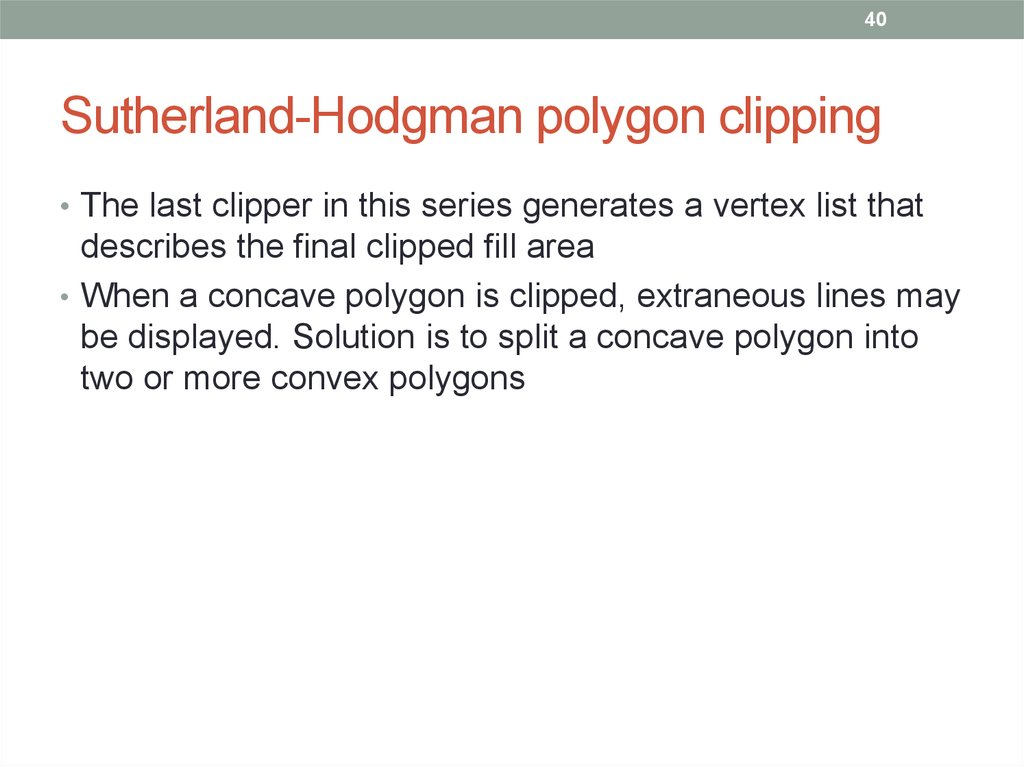 Sutherland-Hodgman polygon clipping