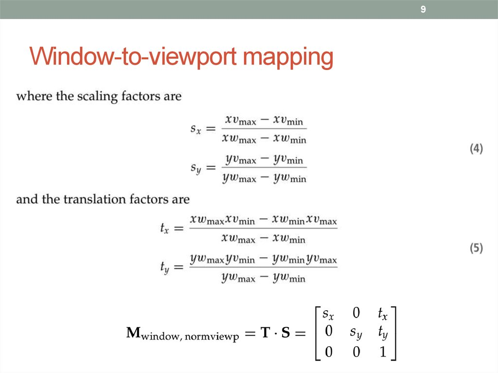 Window-to-viewport mapping