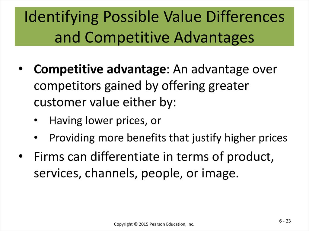 Identifying Possible Value Differences and Competitive Advantages