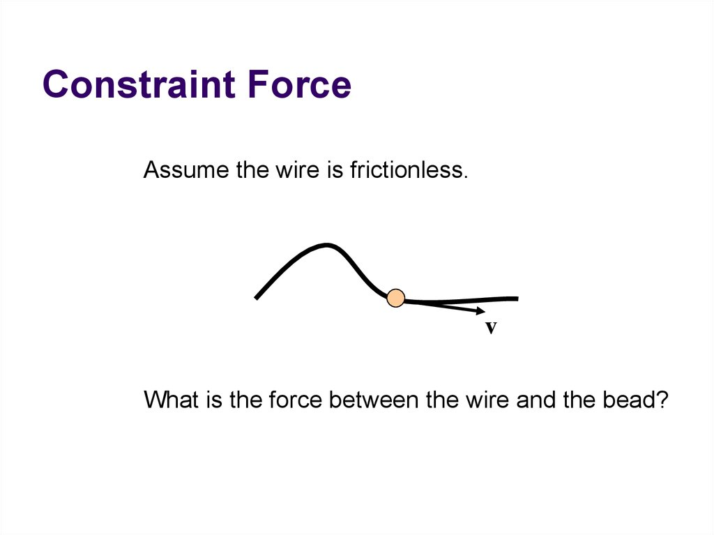 Constraint Force