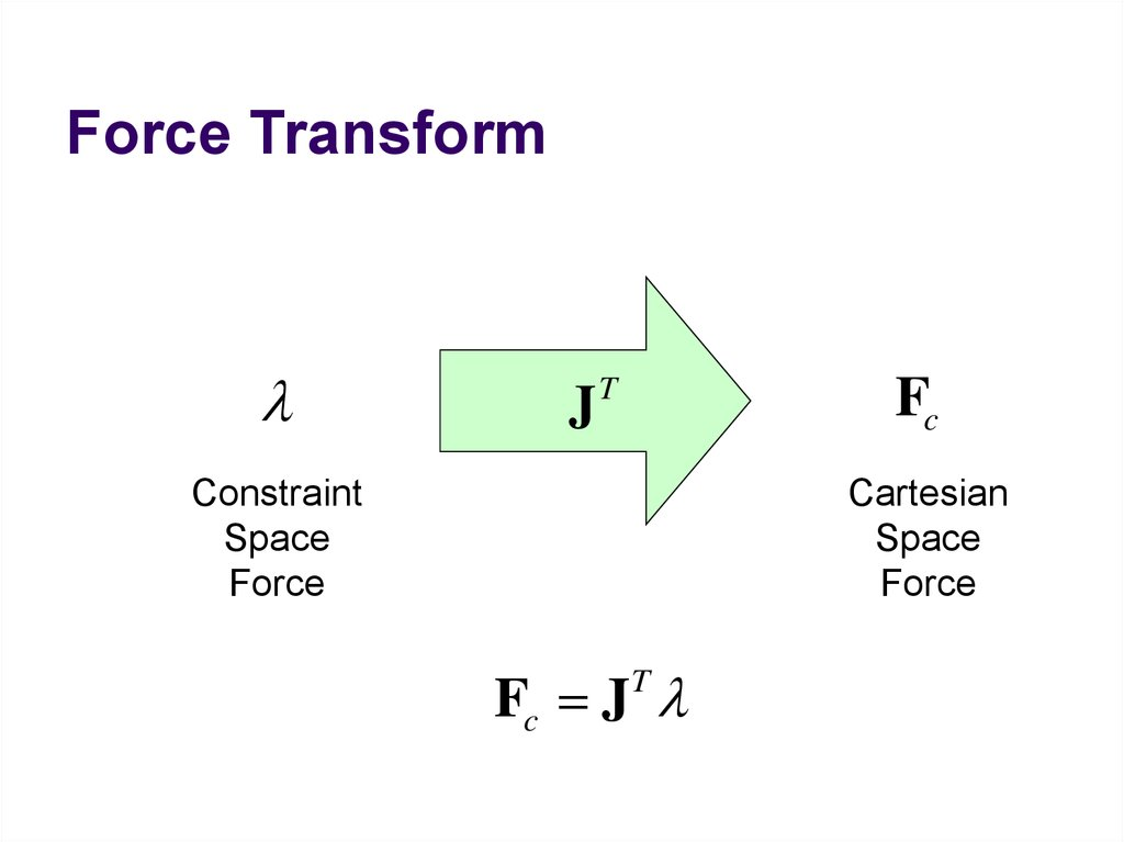 Force Transform