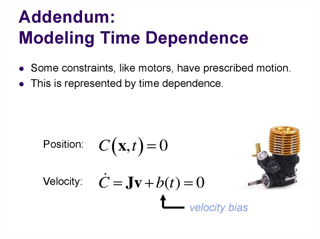 Addendum: Modeling Time Dependence