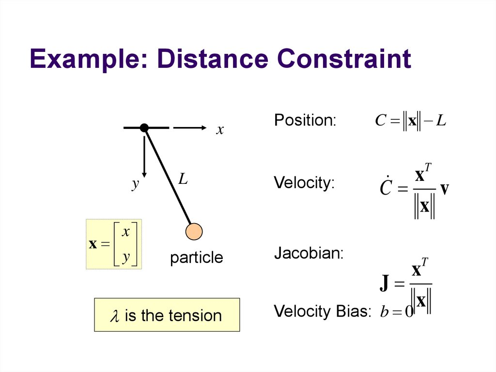 Example: Distance Constraint