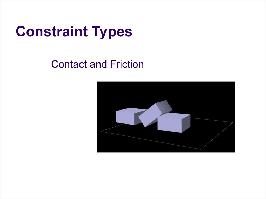 Constraint Types