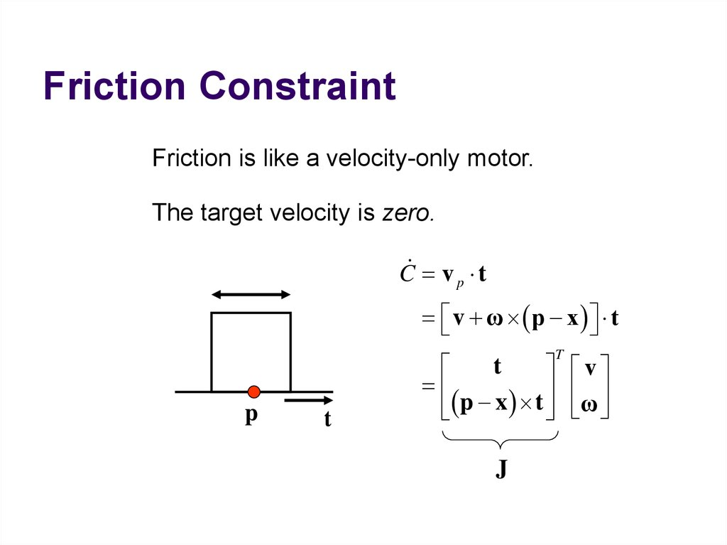 Friction Constraint