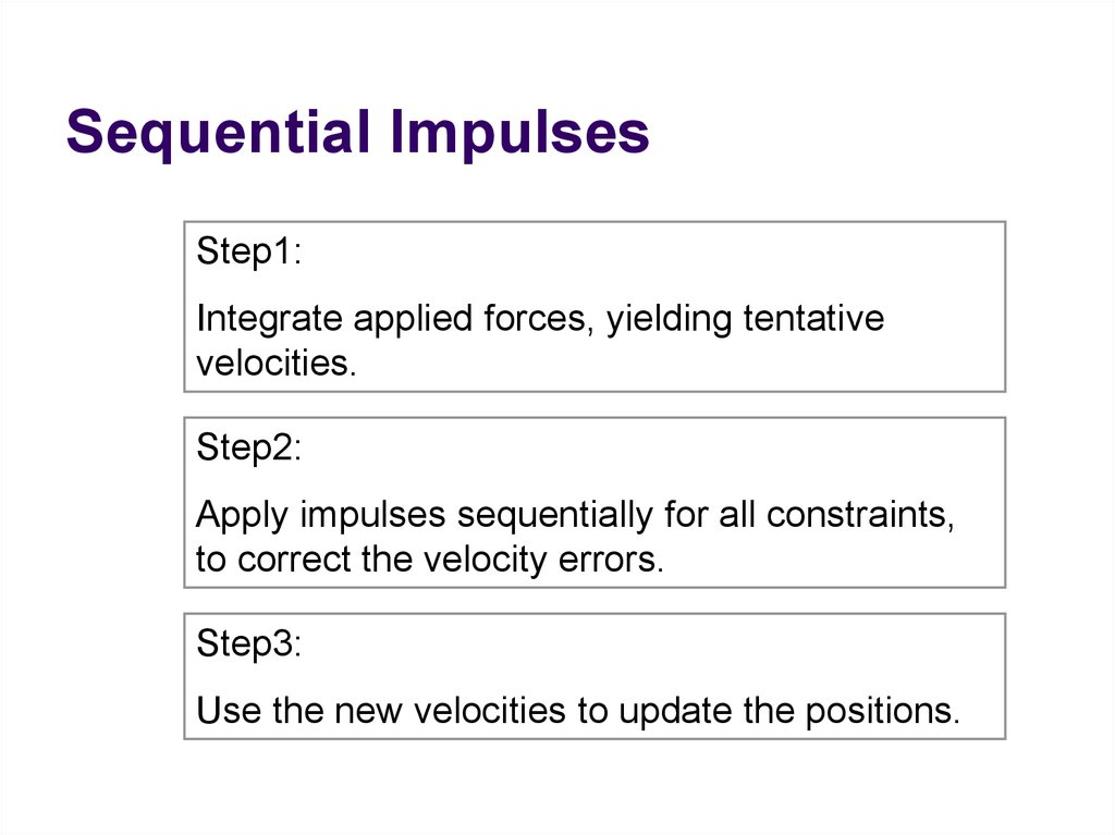 Sequential Impulses