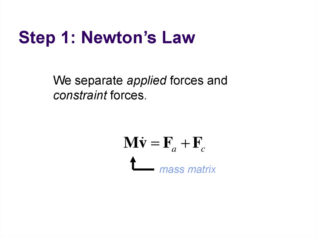 Step 1: Newton's Law