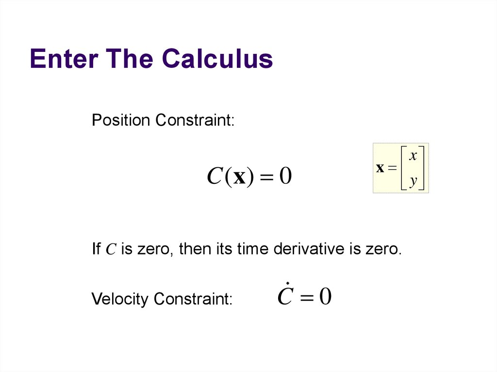 Enter The Calculus