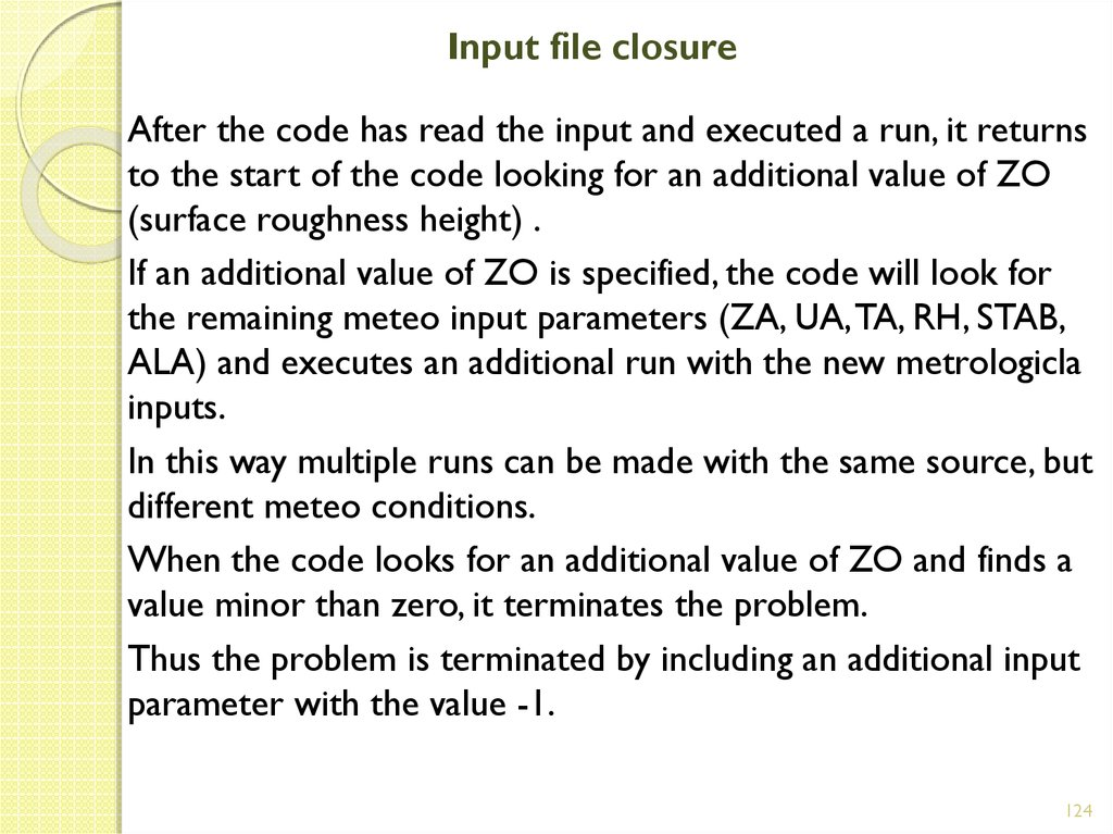 Input file closure