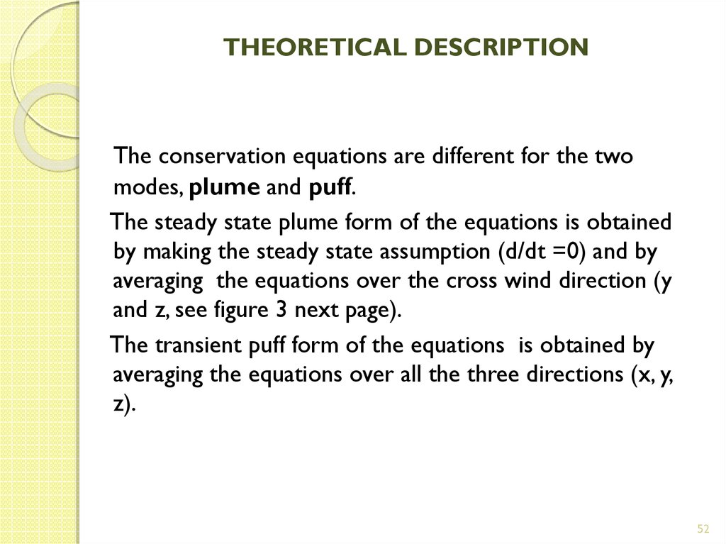 THEORETICAL DESCRIPTION