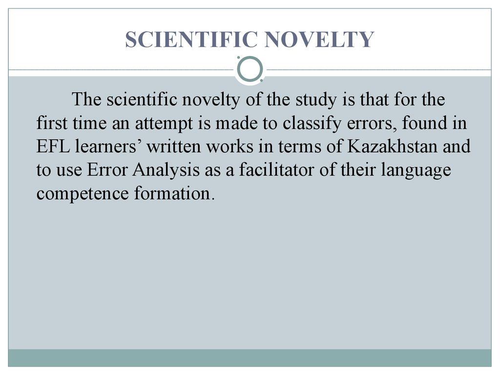 SCIENTIFIC NOVELTY