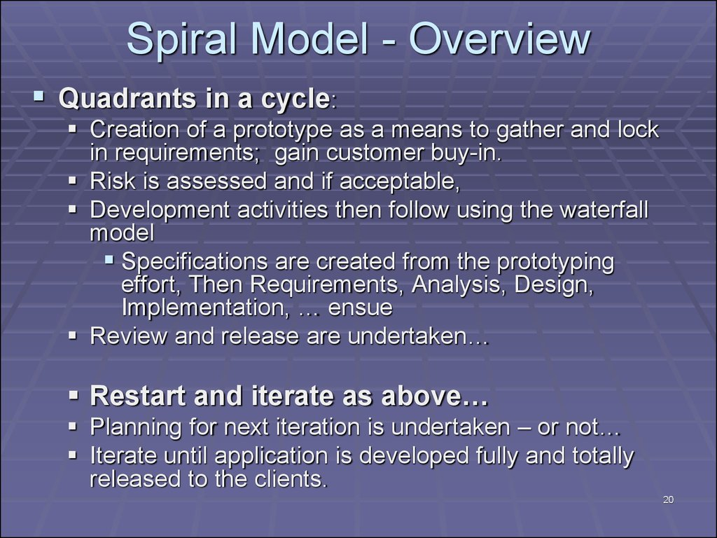 Spiral Model - Overview