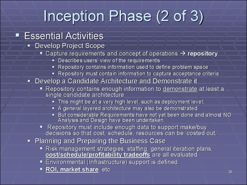 Inception Phase (2 of 3)