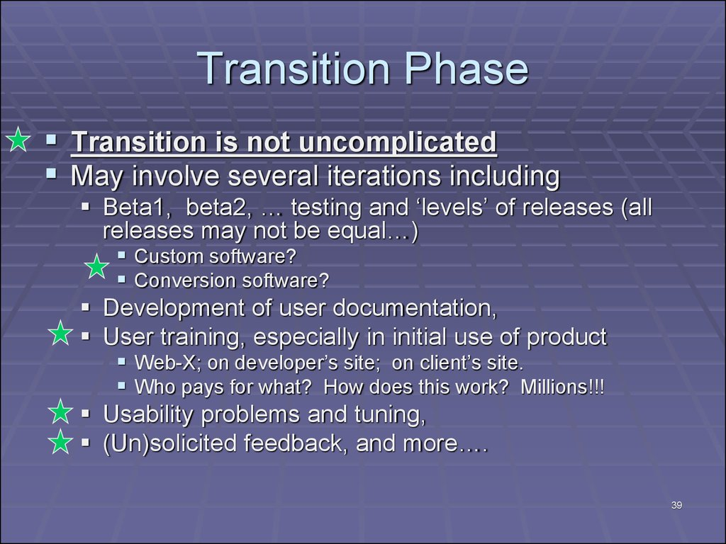 Transition Phase