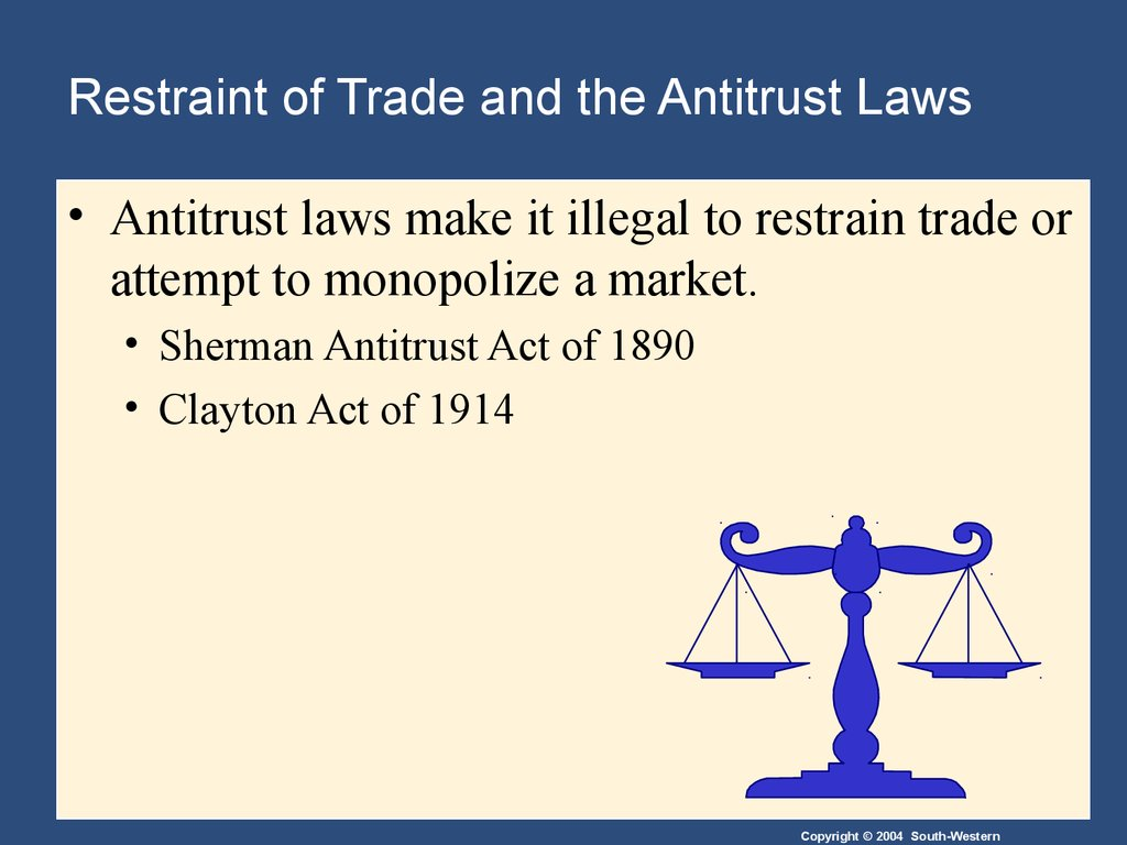 Restraint of Trade and the Antitrust Laws