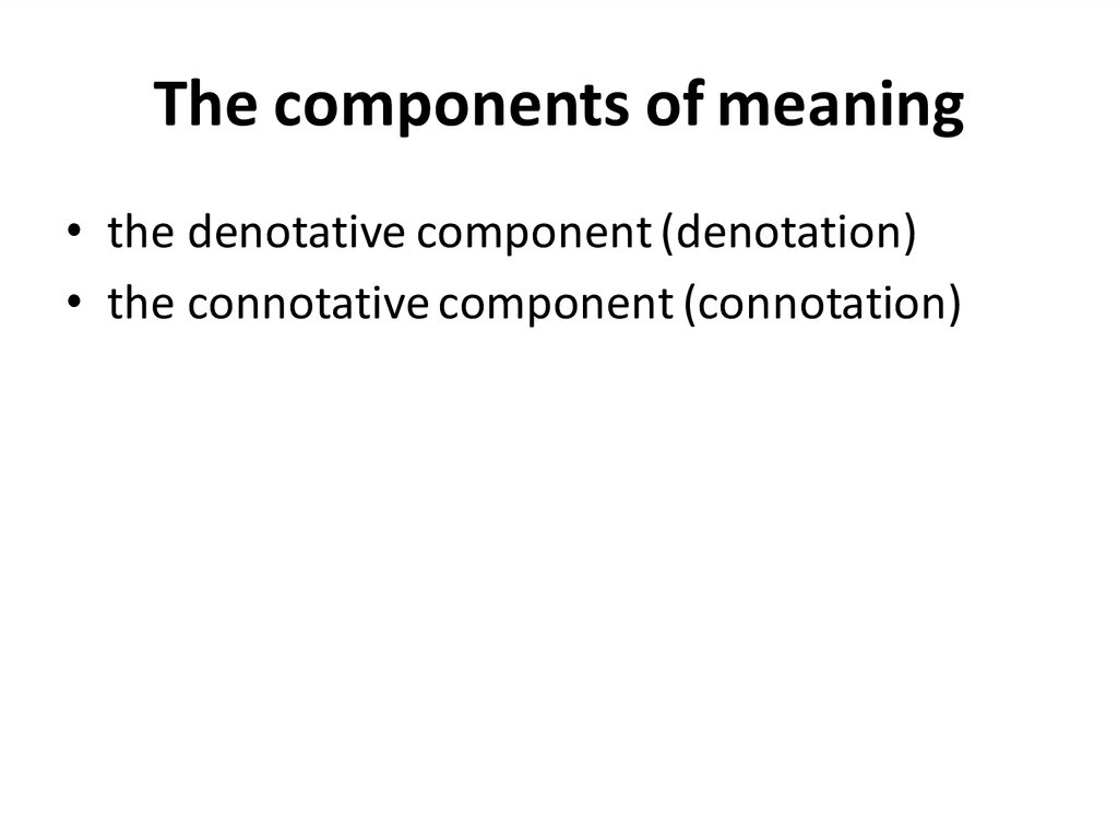 The components of meaning
