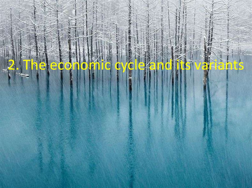 2. The economic cycle and its variants