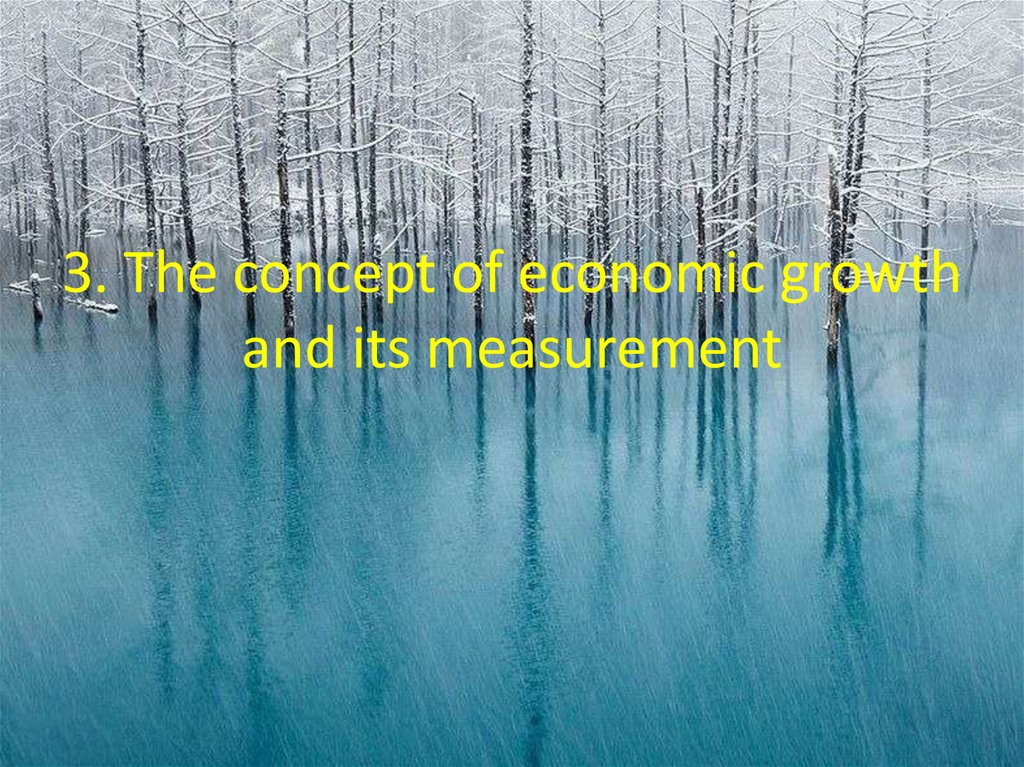 3. The concept of economic growth and its measurement