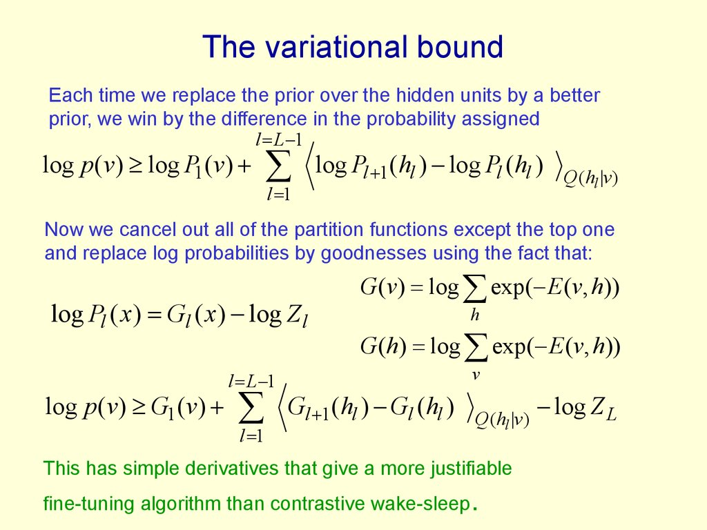 The variational bound