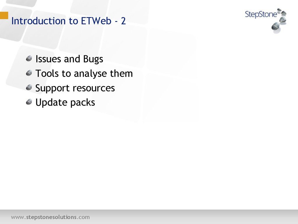 Introduction to ETWeb - 2