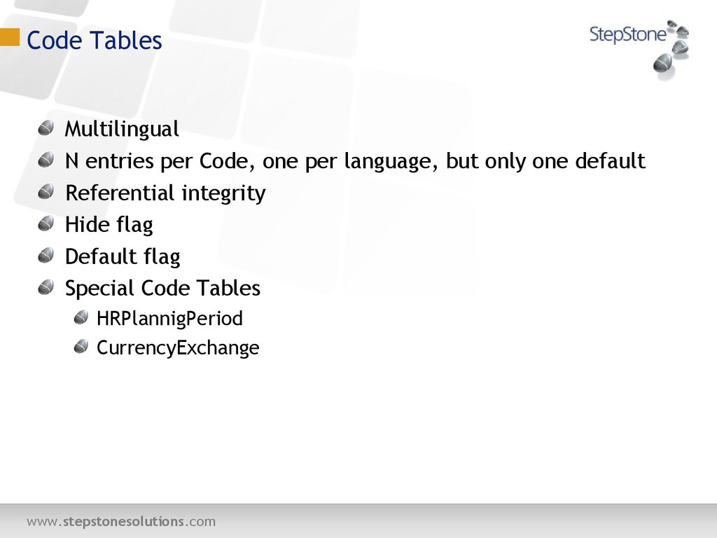 Code Tables
