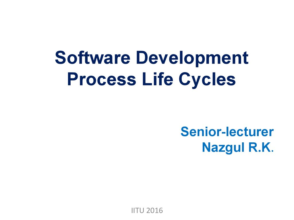 Software Development Process Life Cycles